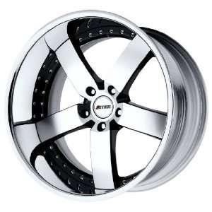 Petrol Wheels Traviata Black Wheel with Chrome Lip (20x10