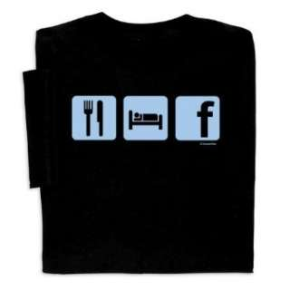 Eat Sleep Facebook T shirt Clothing