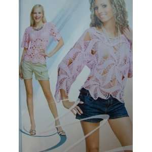 Stylish Crochet Knit Patterns Book Poncho Shawl Dress Top Cardigan