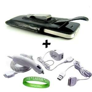iPhone 4 Sync Data Cable + Live * Laugh * Love VG Silicone Wrist Band