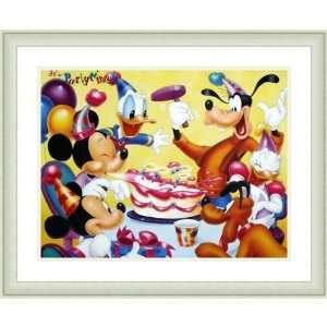 Disney Framed Art Mickey and Friends Birthday Party