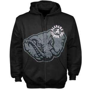 Bama Roll Tide Hoodie Sweatshirts  Alabama Crimson Tide Black Zippity