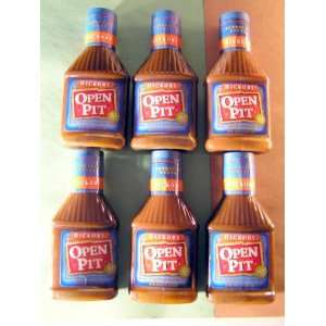 Open Pit Hickory Barbecue Sauce (18 oz each) SIX BOTTLES