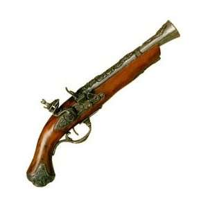 Ornate English 1700s Blunderbuss Flintlock Pistol