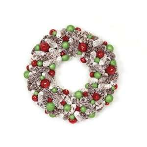 Pack of 2 Candy Crush Frosted Pine Cone & Ball Artificial