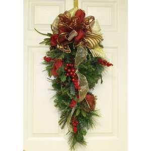 Holiday Door Swag   Christmas Door Swag WR4569: Home & Kitchen