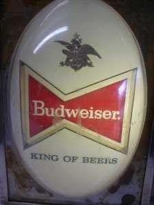 VINTAGE BUDWEISER ANHEUSER BUSCH BEER LIGHT SIGN
