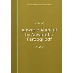 by Anwarulla Farooqi.pdf Muhammad Tariq Hanafi Sunni Lahori Books