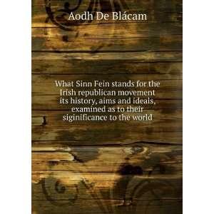 Sinn Fein stands for the Irish republican movement its history, aims