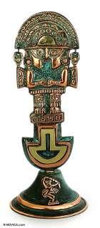Inca GOD Handmade Peruvian Copper Bronze ART Sculpture Sculpture
