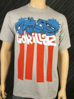 Officially Licensed GORILLAZ T Shirt Empire Ants Mens Band Tee BRAND