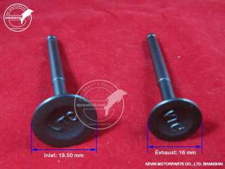 Intake exhaust valves set 50cc Gy6 scooter,ATV engine