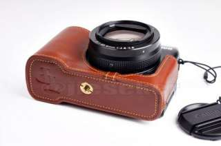 Genuine real COW leather case bag cover for CANON POWERSHOT G1X G1 X
