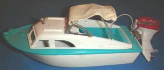 Vintage NIB EL CAPITAN BATTERY POWERED FLEET LINE TOY BOAT/BOX/SEA