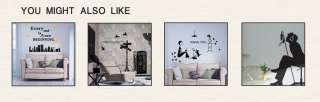 TELEPHONE & LADY Deco Mural Art Wall Sticker Decal K39