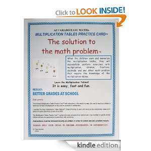 ALVARADO EASY MATH, MULTIPLICATION TABLES PRACTICE CARD [Kindle