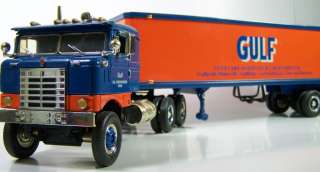 34 1ST GEAR 1953 KENWORTH BULL NOSE COE TRACTOR 35 TRAILER GULF OIL