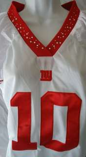 New York Giants 10 Eli Manning Jersey Road Shirt Top Juniors Medium