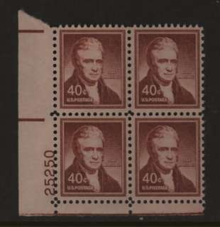 US Scott 1050 John Marshall Plate Block Mint NH