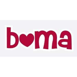 ALABAMA CRIMSON TIDE BAMA Heart Logo vinyl decal car truck