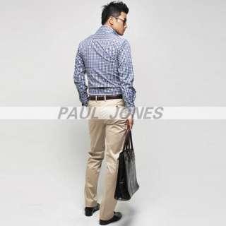 Mens Casual Slim Fit V neck Cotton Long shirts