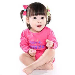 NEW Lovely Ribbon Baby Boy Girl Infant Cotton Clothing /WBA 121~122