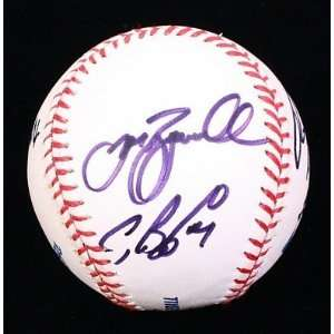 Biggio Signed Ball   & Jeff Bagwell +4 Oml Jsa