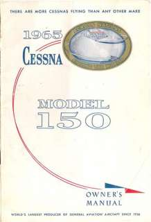 1965 Cessna 150 Owners Manual in PDF format on CdRom