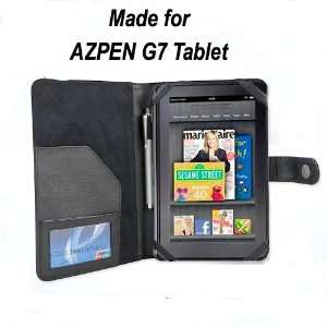 AZPEN G7 7 Inch Android Tablet Leather Case   Black
