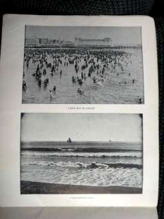 antique ATLANTIC CITY PHOTO ALBUM b&w new jersey shore ocean boardwalk