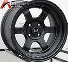 16X8 ROTA GRID V WHEELS 4X100 RIM 10MM OFFSET FLAT BLACK FITS 4 LUG