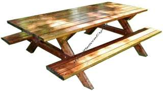 PICNIC TABLE W/ BENCHES Paper Patterns BUILD YOUR OWN LIKE EXPERT Easy