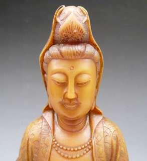 Chinese Shou Shan Jade Kwan Yin Quan Yin Ru Yi Statue