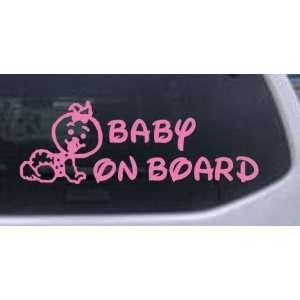 Baby On Board (Girl) Car Window Wall Laptop Decal Sticker