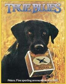 Peters True Blues Shotgun Shells Dog Nostalgic Tin Sign