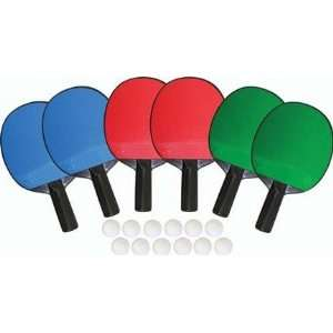 6 Player Table Tennis Set
