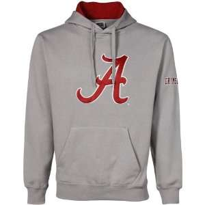 Alabama Crimson Tide Gray Classic Twill Hoody Sweatshirt