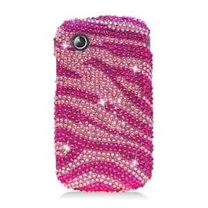 ZTE Avail Full Diamond Graphic Case   Hot Pink Zebra