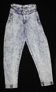 Vtg 80s STONEWASH Grunge HIGH WAIST Harem Pants JEANS Acid Wash