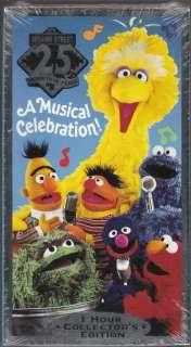 1993 SESAME STREET 25 Wonderful Years SEALED Vhs Movie
