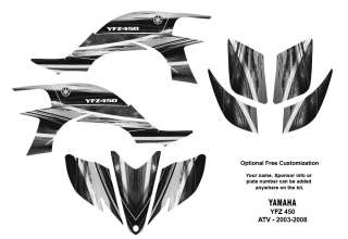 YAMAHA YFZ 450 2003   2008 Atv Graphic Decal Sticker Kit #1400 Metal