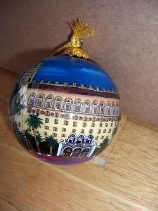 BILL YEE INSIDE REVERSE PAINTED GLASS ORNAMENT IN BOX