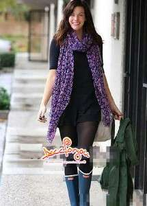 color All Year Long Super LARGE Cotton Scarf LEOPARD Print SHAWL