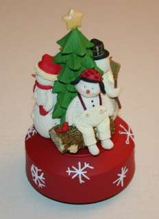Hallmark Revolving Snowman Music Box Oh Christmas Tree