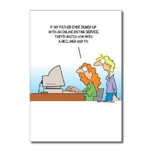 Funny Fathers Day Card Online Dating Service Humor Greeting Randy