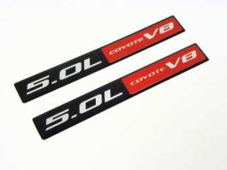 2011 FORD MUSTANG GT 5.0 COYOTE V8 ENGINE EMBLEMS BADGE