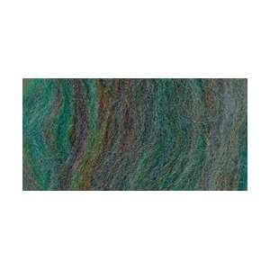 Wool Roving 12 .22 Ounce Blue Green Variegated