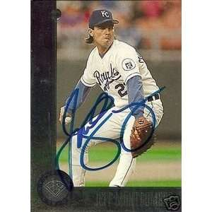 Jeff Montgomery Signed Kansas City Royals 96 Leaf Card
