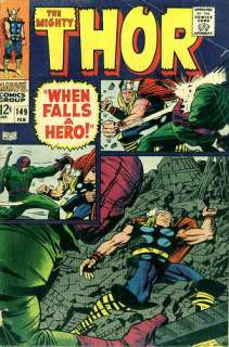 For your reference, the cover of THOR #149 published February 1968