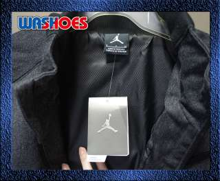 2011 Nike Air Jordan Retro XI 11 Jacket Grey Black 437314 010 polo